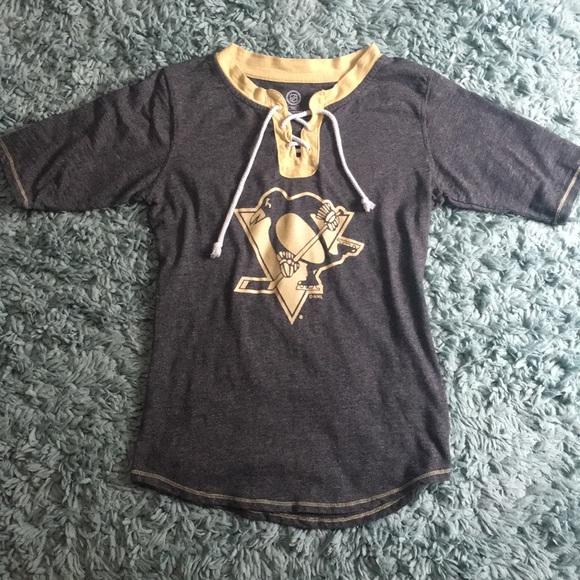 Pittsburgh Penguins lace up women s shirt. M 5b3e3d7bc9bf504a86a09b42 c819717d3
